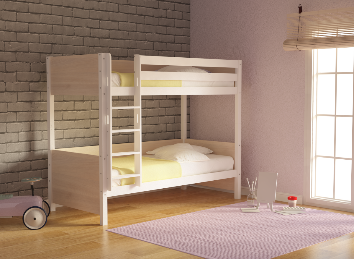 DREAM BUNK BED WHITE BEECH WOOD bed epipla lamia koutsoukos homeandstyle