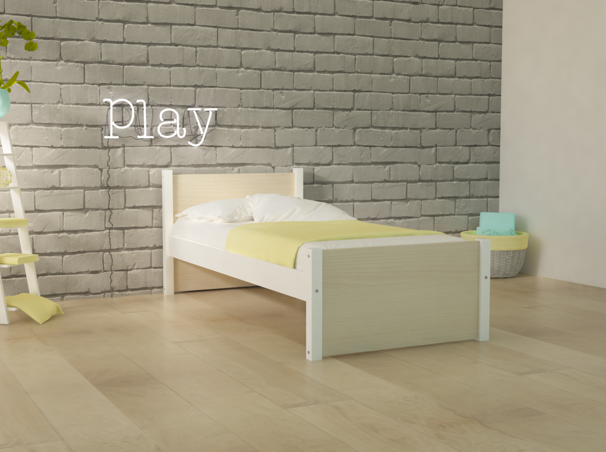 DREAM SINGLE BED WHITE SOLID BEECH WOOD _ 809 epipla lamia koutsoukos homeandstyle